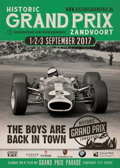 Delen Tweet Pin E-mailen De zesde editie van de Historic Grand Prix Zandvoort vindt plaats tijdens de eerste drie dagen van september 2017. Naast ...