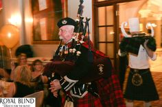 Royal Blind Rabbies Girls Fundraiser Event in Edinburgh 2012 Piping in the Haggis