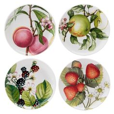 Portmeirion - Eden Fruits Entree Plate Set 4pce | Peter's of Kensington