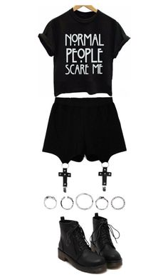 """""""958. October 1st"""" by adc421 ❤ liked on Polyvore featuring Chicnova Fashion and octoberblack"""