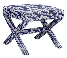Tolstoy Ottoman in Blooms, Mysterious Buttercup Calming, designed by Richard Noldin and featured on Guildery