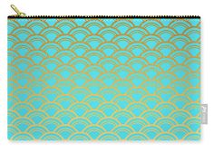 Fancy Carry-all Pouch featuring the digital art Shiny Patterns 1 by Bonnie Bruno