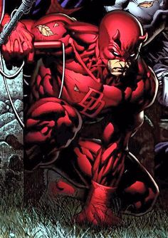 Daredevil by David Finch. (guy mutated more muscles than actually anatomically exists hahahha)