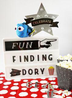 Finding Dory celebration with @heidiswapp Lightbox