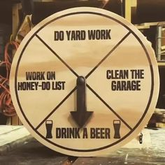 I made a chore wheel - woodworking Diy Wood Projects, Woodworking Projects, Router Projects, Woodworking Beginner, Wood Crafts, Paper Crafts, Chore Wheel, Wheel Of Fortune, Funny Signs