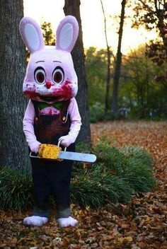 Robbie the Rabbit costume, with chainsaw, Silent Hill 3