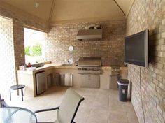 ohhh...outdoor ideas   This is my dream kitchen.