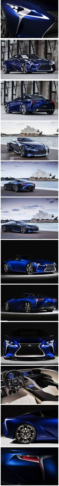"'♂ Blue car The Lexus LF-LC Concept"" - OK...this one had me at ""hello"" with the color! I am absolutely ""taken"" by this ""blue""...but, Lexus has certainly done it again with a beautifully done concept vehicle we HOPE will soon be on the showroom floors! I'd truly LOVE to own this one! -Dee Blackman, LDJ Auto Body, http://www.ldjautobody.com/european-luxury-cars/ :)"
