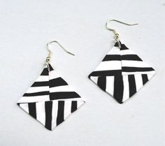 Jewellery handmade Geometric Earrings Black by MajorMinorShop
