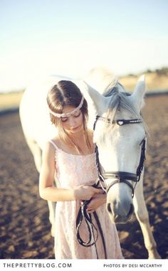 This reminds me of a younger Prissie, maybe like if they had horses on their farm. :)