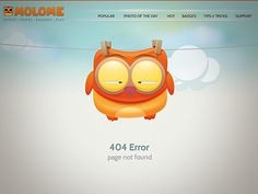 404 page design for molo.me, you can see molome in action at http://molo.me/404