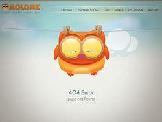 Dribbble - MOLOME 404 page by buatoom