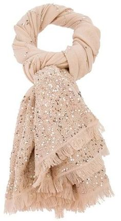 Valentino Sequin Scarf in Beige (nude)