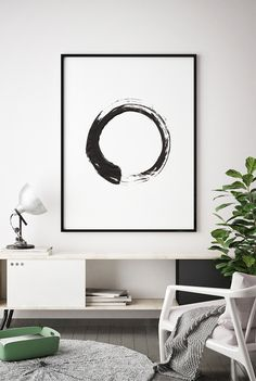 Contemporary Art Brush Stroke Circle Print Black White Abstract Wall Art Scandinavian Printable Modern Minimal Ink Painting Home Decor Contemporary Home Decor, Modern Wall Art, Modern Decor, Post Contemporary, Interior Minimalista, Decoration Ikea, Art Decor, Decor Ideas, Art Ideas