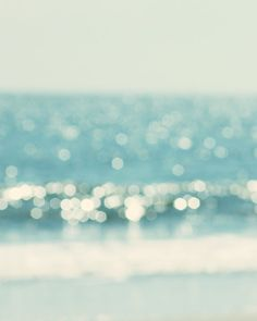 ocean photography abstract beach print dreamy by TheGinghamOwl
