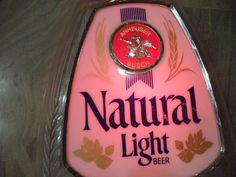 ANHEUSER BUSCH NATURAL LIGHT BEER SIGN 1000+++ ITEMS LISTED http://stores.ebay.ca/allssgood-- my  store www.allssgood.com