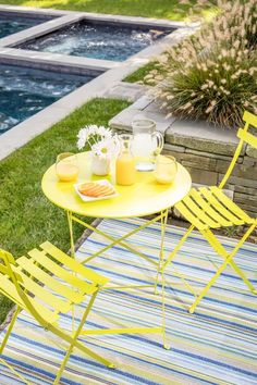 We Heart Fermob Furniture. This line of fun, colorful, and artistically designed Fermob furniture has us pining for sunny days and family barbecues: