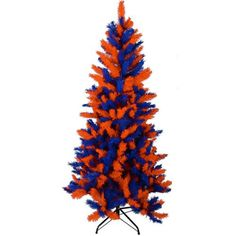 Great Christmas tree for Brandon...Walmart...6' Blue and Orange UF Team Colored Artificial Christmas Tree...From Christmas Central.