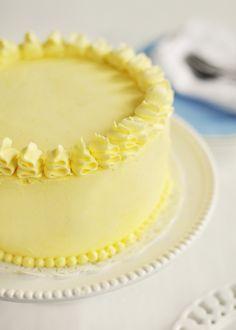 Lemon Layer cake (recipe for lemon buttercream)