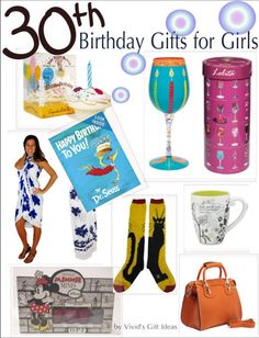 30th Birthday Gifts For Girls Unique Friend
