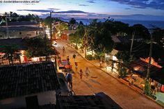 Pipa, Brasil - main street at night   # Pin++ for Pinterest #