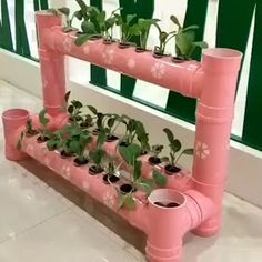 Perfect tiny hydroponic pc set upEasy to execute DIY PVC Projects - When you try to become creative there is no limit to it, the only limit is in your mind. When you start thinking of different items and there uses you.Loved by Lazy Girl Official# be Garden Crafts, Garden Projects, Garden Art, Home Crafts, Garden Design, Diy Crafts, Pvc Pipe Projects, Decoration Plante, Bottle Garden