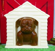 Lapin Product DOG HOUSE w/BULLDOG Vintage Dollhouse Furniture Toy