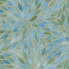 ANN SACKS Beau Monde blossom glass mosaic in aquamarine. I would love to incorporate this in my home...somewhere.