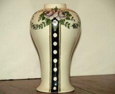 Early Devon Ware Fieldings Crown Devon Art Deco Beautiful Cedric Vase