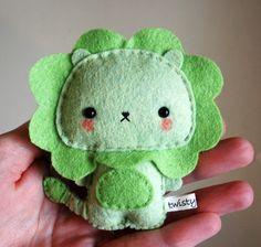 león verde!!  - kawaii green lion