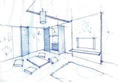 Interior Design Drawing, Living Room