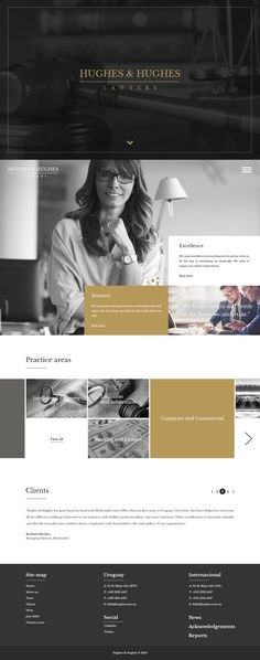 Lawyers new brand and web design on Behance design inspiration Web Design Trends, Web Design Quotes, Web Design Projects, Layout Design, Web Layout, App Design, Brand Design, Homepage Design, Lawyer Website