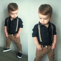 My little model ♥ fashion_dael Fashion Baby Boys, Little Boy Fashion, Toddler Fashion, Little Boy Outfits, Toddler Boy Outfits, Toddler Boys, Outfits Niños, Outfits With Hats, Kids Outfits