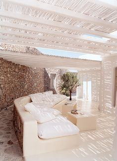 White patio