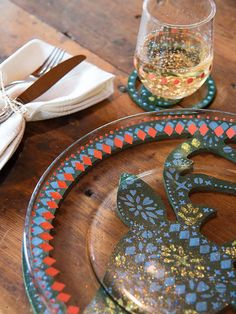 Glittery Fun Holiday Tablescape