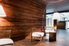 Nira Montana, Hotel & SPa, La Thuile (AO) - #lighting #design #light #fixtures #Luceplan Lady Costanza