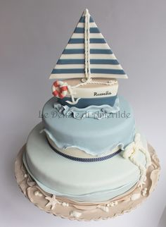 Le Delizie di Amerilde. Navy style. Sailor cake from www.ledeliziediamerilde.it