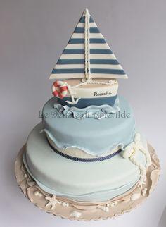 Le Delizie di Amerilde. Navy style. Sailor cake from www.ledeliziediamerilde.it