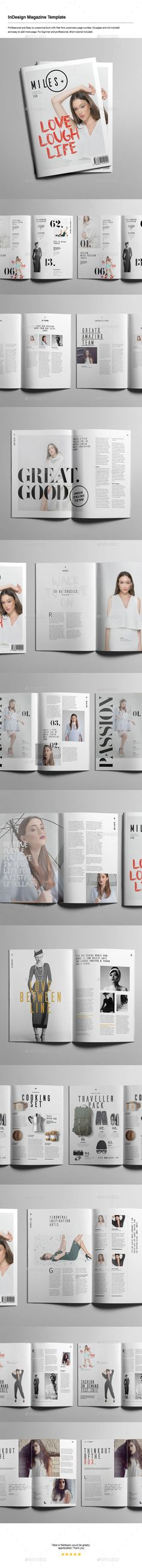 InDesign Magazine Template — InDesign INDD #stationery #guidelines • Available here → https://graphicriver.net/item/indesign-magazine-template/14312651?ref=pxcr