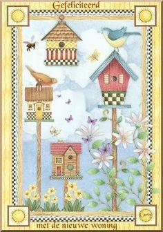 Debbie Mumm - Somogyi Erika - Álbuns da web do Picasa Decoupage Vintage, Cross Stitch Bird, Country Paintings, Country Art, Tole Painting, Bird Art, Bird Feathers, Bird Houses, Folk Art