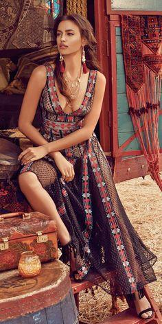 Bohemian causal dress
