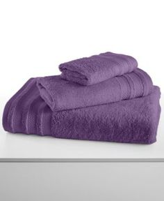 "Closeout! Charter Club Classic Pima Cotton 33"" x 64"" Bath Sheet, Created for Macy's - Purple"