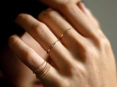 love thin rings - size 5 for knuckle ring and 7 for ring and middle fingers