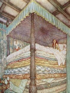 "Edmund Dulac - ""The Princess and the Pea"""