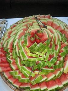 Ideas fáciles de bandejas de frutas para fiestas