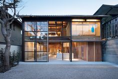 Gallery of Blue Bottle Coffee Kyoto Cafe / Jo Nagasaka / Schemata Architects - 12 Japanese Coffee Shop, Japanese House, Cafe Shop Design, Store Design, Japanese Restaurant Design, Cafe Japan, Blue Bottle Coffee, Shop Facade, Japan Architecture