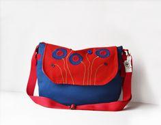 #Satchel #bag #Blue #purse #satchelbag #Fabricbag #etsy #etsyshop #etsybags #bags #purses #shopping #shop #shoponline #gifts #giftforwomen #women #ladies #handbags #crossbody #bohemian #summer #models #holiday #purses #holidays #vacation #freetime #freespirit #canvasbags #outdoor #living #cottonbags #poppy #flowers #red #redflowers #unique #design #handmade by PurpleFlowerPurses