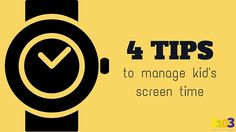 4 Tips to manage kid's screen time | 3103 Communications #CyberSavvyParenting #Tweens #ScreenTime #SmartPhones #Addiction