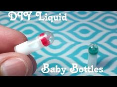 DIY Miniature Baby Bottles with Liquid Inside: Doll DIY - YouTube