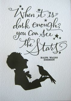 When it is dark enough, you can see the stars. Love the handwritten #calligraphy